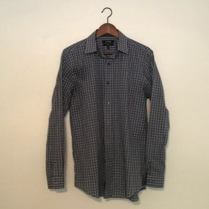 Checkered long sleeve button down